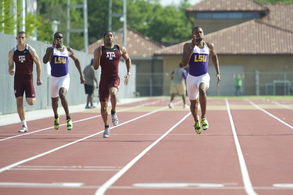 Relay Sprint LSU Track & Field Athletes Sports Tigers